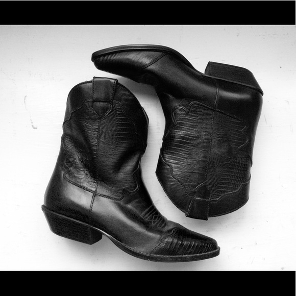 Low Heel Cowboy Boots Size